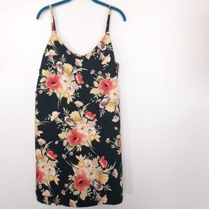 NWT Sanctuary Dark Lily Pond Mini Slip Dress Sz L
